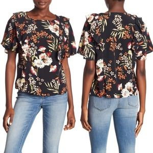 Code X Mode Ruffle Floral Top